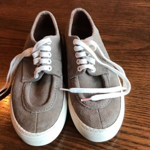 Hugo Hugo Boss taupe suede lace up shoes
